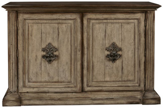 Homefare Hand Painted Traditional Distressed Two Door Accent Storage Console