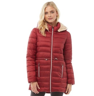 Only Womens Serena Quilted Coat Merlot