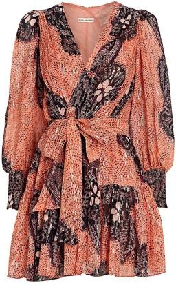 Ulla Johnson Noemi Silk-Lurex Crepe Dress