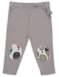 PureHeart Organics Baby Girls Hot Air Balloon Patch Trouser
