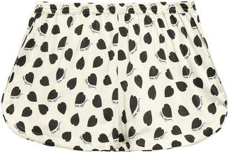 Stella McCartney Tara Tickling Printed Silk-blend Satin Shorts