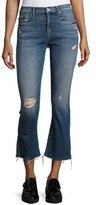 Mother Insider Crop Fray Jeans, Indigo
