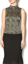 Rafael Gold Sleeveless Top