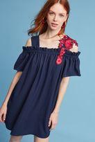 Anthropologie Lauritz Open-Shoulder Dress, Blue