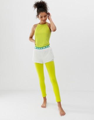 Asos 4505 4505 seamless soft stretch base layer legging-Green