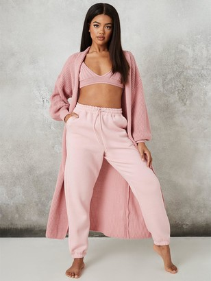 Missguided Maxi Batwing Cardigan - Rose
