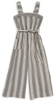 Bebe Girl's Stripe Jumpsuit