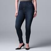 Vera Wang Plus Size Simply Vera High Rise All-Day Denim Legging