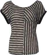 Izabel London **Izabel London Black And White Contrast Stripe Top