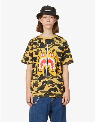 A Bathing Ape Tiger and camouflage-print cotton-jersey T-shirt