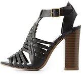 Charlotte Russe Chunky Heel Huarache Sandals