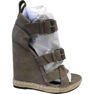 Balenciaga Grey Suede Sandals