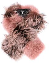 Fendi fox and lamb fur stole - women - Calf Leather/Fox Fur/Python Skin/Lamb Fur - One Size