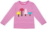 Jo-Jo JoJo Maman Bebe Toadstool Top (Toddler/Kid) - Fuchsia/Cream Stripe-3-4 Years