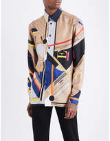 Versace Lazlo-print silk-twill shirt