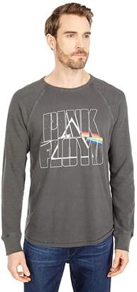 Lucky Brand Pink Floyd Slub Thermal Long Sleeve Tee (Jet Black) Men's Clothing