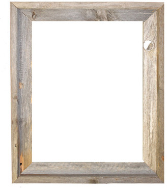 "Rustic Decor Llc Tulsa Signature Reclaimed Rustic Barn Wood Open Frame, 16""x20"""