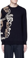 Alexander McQueen Skull paisley intarsia wool-cashmere sweater