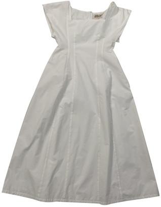 Awake White Cotton Dresses