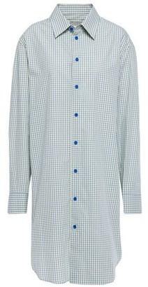 Maison Margiela Metallic Shell-trimmed Checked Cotton-poplin Shirt