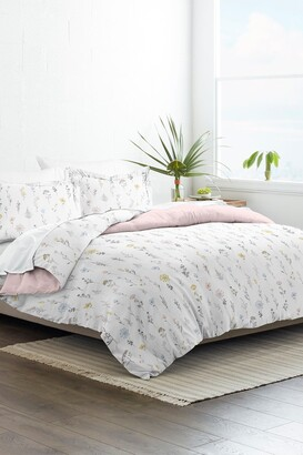 IENJOY HOME Home Collection Premium Ultra Soft Wild Flower Pattern 3-Piece Reversible Duvet Cover Set - Pink