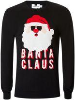Topman Black Banta Claus Christmas Jumper