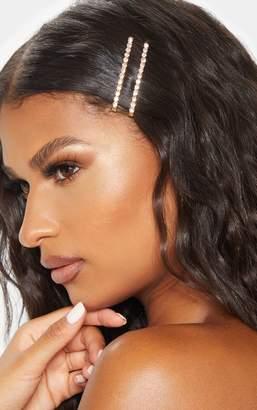 PrettyLittleThing Gold Diamante Hair Slide Multi Pack
