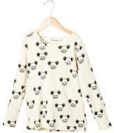 Mini Rodini Girls' Mouse Printed Long Sleeve Top w/ Tags