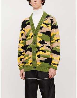 Prada Camouflage-pattern cotton-knit cardigan