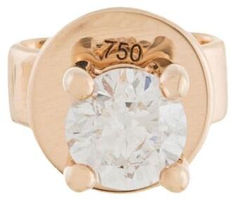18kt rose gold NATALIA diamond single stud