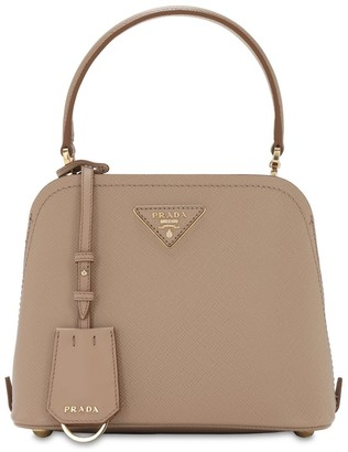 Prada Mini Matinee Leather Top Handle Bag