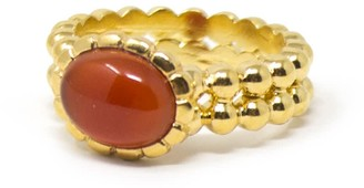 Vintouch Italy Carnelian Beady Band Ring