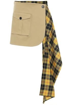 Monse Checked mini skirt