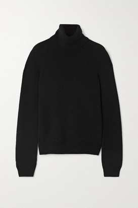 Saint Laurent Ribbed Cashmere Turtleneck Sweater - Black