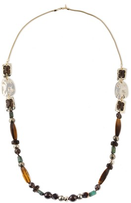 Alexis Bittar Gold-tone, Crystal And Stone Necklace