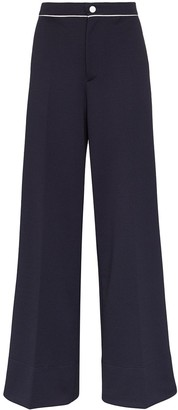 Moncler High-Waisted Flared Trousers