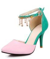 Balamasa Womens Closed Toe Buckle Assorted Colors High-Heels Pumps-Shoes