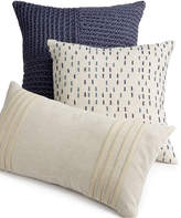 "Hotel Collection Linen Stripe 18"" Square Decorative Pillow, Created for Macy's Bedding"