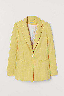 H&M Single-breasted Jacket - Yellow