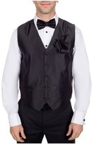Buy Your Ties Men's Solid Formal Vest Bow Tie and Hanky Set