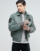 Schott Flight Bomber with Collar Insert and Patches