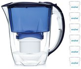 Aqua Optima 12 month annual pack - Oria Water filter jug with 6 x 60 day Evolve filter cartridges - Blue