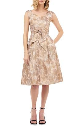Kay Unger Chloe Birds of Paradise Fit & Flare Dress