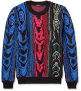 Balmain Jacquard-knit Cotton-blend Sweater