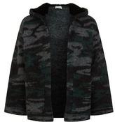 Saint Laurent Camouflage Jacquard Mink Hoodie