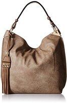 MG Collection Hobo Studded Tassel Bag