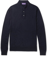 Ralph Lauren Purple Label Knitted Merino Wool Polo Shirt
