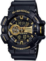 G-Shock Men's Analog-Digital Chronograph Black Resin Strap Watch 55x52mm GA400GB-1A9