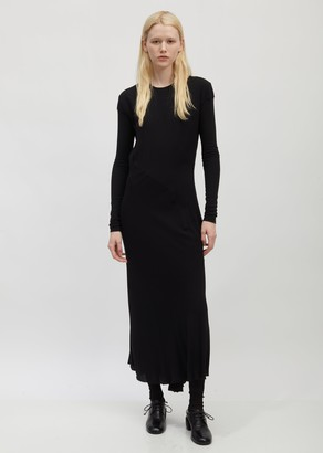 Haider Ackermann Bias-Cut Long Sleeve Dress