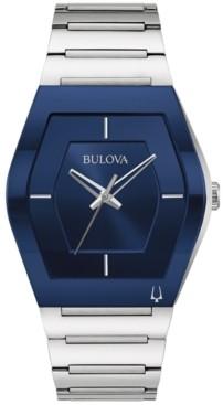 Bulova Men's Futuro Stainless Steel Bracelet Watch 40mm